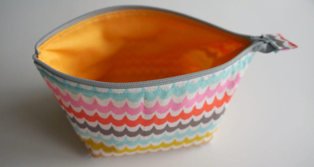 open wide zipper pouch