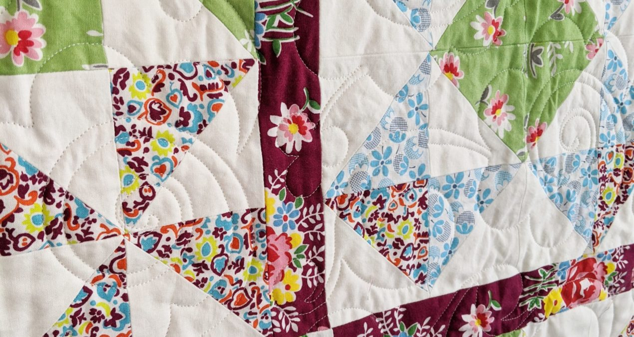 Half Square Triangle Block of the Month Quilt